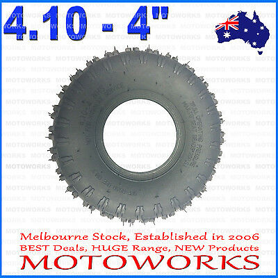 "3.50 / 4.10 - 4"" Inch Knobby Tire Tyre ATV QUAD Bike Gokart 4 Wheeler Buggy Dirt"