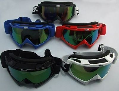 Motorbike Motocross Dirt Bike Off-road ATV Goggles Clear Single Lens New Eyewear