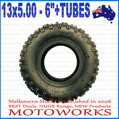 "13 x 5.00 - 6"" inch Tyre Tire + TUBE ATV QUAD Bike Gokart Scooter Buggy Mower"