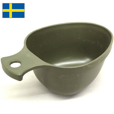 Swedish ORIGINAL Military Surplus Army Mug Cup Plastic Camp Mess Field SWEDEN
