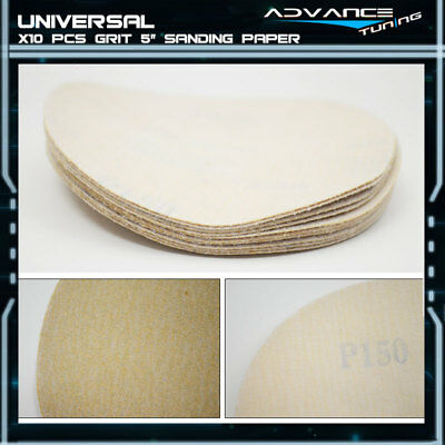 Disc 150 Grit 5 PSA Auto Sanding Paper Sheets Repair Sandpaper Magic Tape 10Pcs