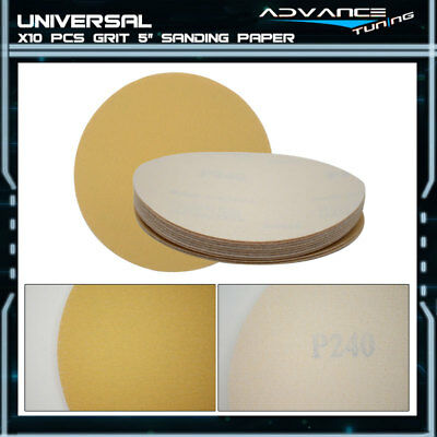 Disc 240 Grit 5 PSA Auto Sanding Paper Sheets Repair Magic Tape Sandpaper 10Pcs