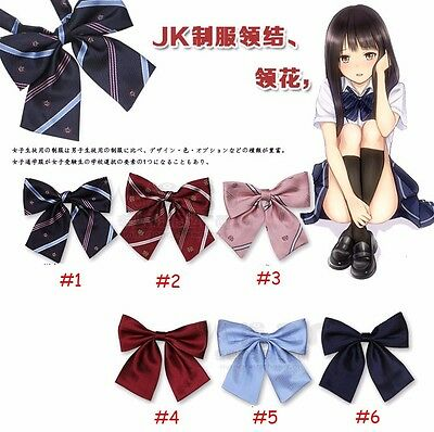 Japanese School Girl JK Uniform Bow Tie Cute Bowknot Neck Tie Adjustable Cosplay