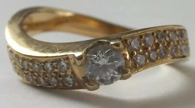 18 Carat Yellow Gold 0.50 Carat Brilliant Cut Diamond Ring