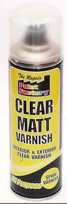 Clear Matt Spray Varnish 250Ml Interior Exterior All Purpose Sealer Furniture