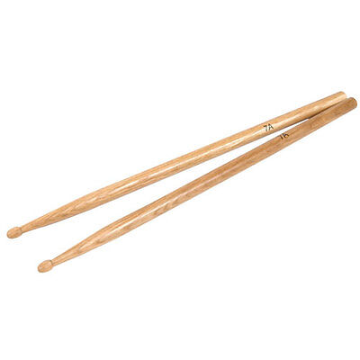 Wooden Drum Sticks 7A 393mm x 14mm Hickory Wood Drumsticks One Pair UK