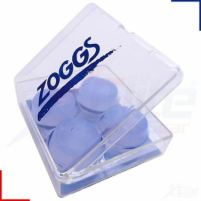 Zoggs Silicone Swimming Ear Plugs/Putty Moldable Pack of 4 with Case