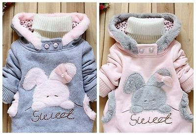 Toddler Baby Girls outerwear Hooded coats Winter Jacket Kids Girls Clothes