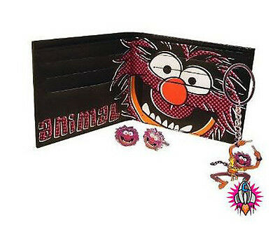 New Muppets Animal Wallet Keyring & Cufflinks Cuff Link All In One Gift Set Cool