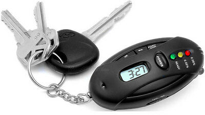 2 x Alcohol Breathalyser and Torch Key Ring - FAST DELIVERY AU SELLER
