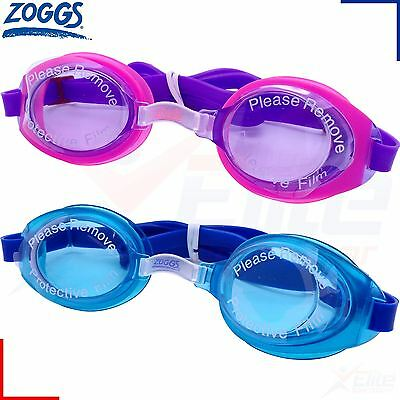 Zoggs Swimming Goggles - Little Ripper Boys /Girls Kids Childrens - UV Pink/Blue