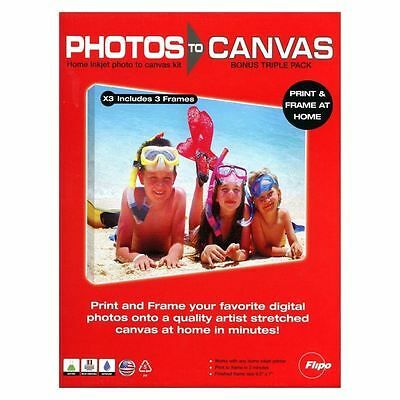 NEW You Frame Creative Triple 3 Pack Photos to Canvas & Frames DIY Kit
