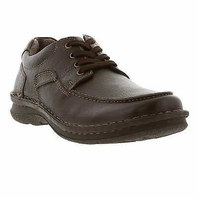 Hush Puppies Orson Tenbrook IIV Brown Leather Laced Shoes UK Sizes 6, 7 ,10