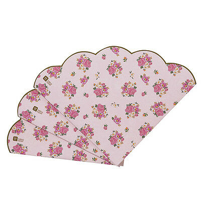 Truly Scrumptious Pretty Scalloped Edge Party Napkin Floral Vintage Shabby Chic