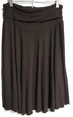 Olian Maternity Lounge Skirt Brown Size Large Nwt