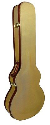 Gear Buddy® Tweed Arched Top Electric Guitar Case fits Les Paul shaped guitars