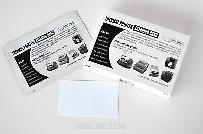 """25 Dymo Compatible 60622 Cleaning Cards, 2.1"""" x 3.5"""" Works Great For Dymo 30252"""