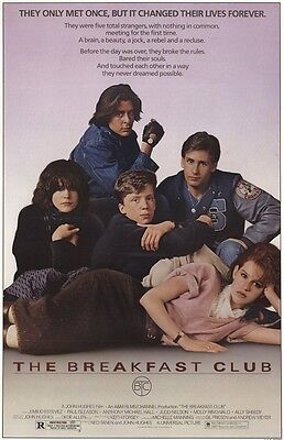 BREAKFAST CLUB MOVIE POSTER - 24x36 HUGHES CLASSIC 44719
