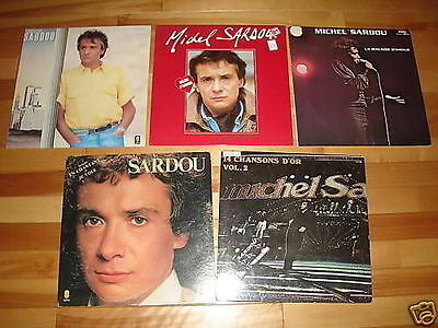 MICHEL SARDOU 5 LP LOT ALBUM COLLECTION Vinyl Records French Albums