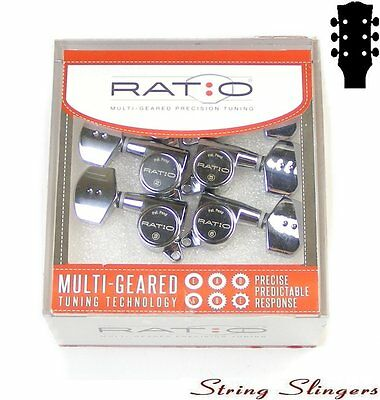 Graphtech PRN-4311-C0 Ratio Tuned Tuners/Machine Heads 45º 3x3 chrome