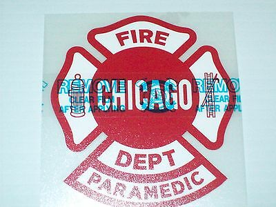 """Chicago Fire Department Decal Maltese Paramedic 4"""""""