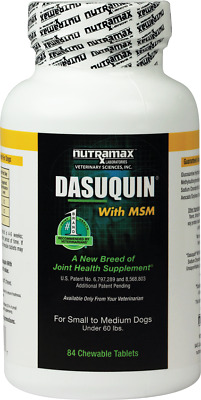 Nutramax Dasuquin 84 Chewable Tabs MSM SM/MED Dogs Joint Health Exp. 05/2020