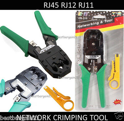 OB-315 RJ45 RJ11 R9 Network Ethernet Crimping Tool Cable Cutter Plier Stripper