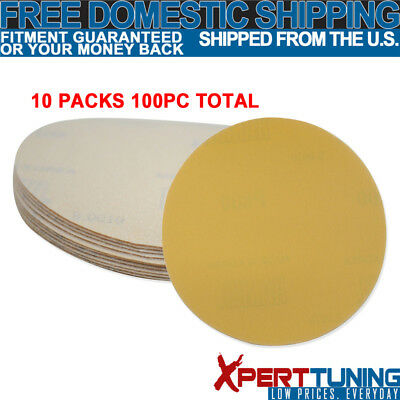 x100 PC Dry Bumper Sand Paper Bodykit Collision Repair Sand Disc 800 Grit 5 Inch