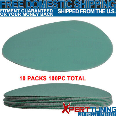 Wet Dry 5 Inch No Hole Sand Paper Disc 400 Grit Body Repair Sanding Sheet 100 PC