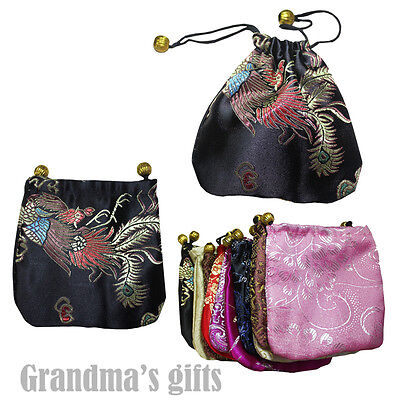 10 pcs Chinese Folk Brocade Pouch Purses Jewelry Coins Gift Bag(S)