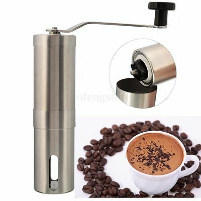 Stainless Steel Hand Manual Mini Coffee Bean Grinder Mill Kitchen Grinding Tool+