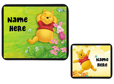 """PERSONALISED CUSTOM """"WINNIE THE POOH"""" MOUSE MAT PAD - KIDS / CHILDRENS PC/Laptop"""