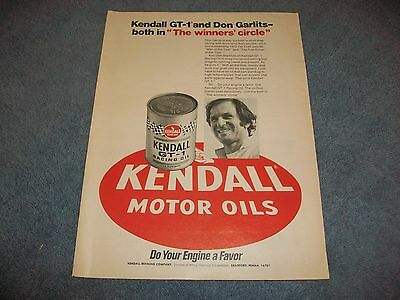 "1973 Kendall Motor Oil GT-1 Vintage Ad ""The Winners' Circle"" Don Garlits"