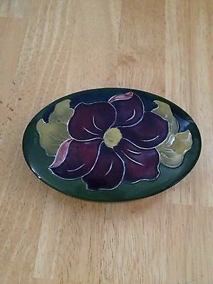 Moorcroft Anemone Trinket Box Stamped And Labeled