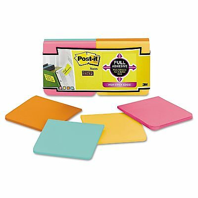 """Post it Full Adhesive Notes Assorted Colors - 3"""" x 3""""12 pk New"""