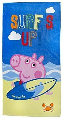 Peppa Pig George Riptide Summer Towel 70cm x 140cm 100% Cotton