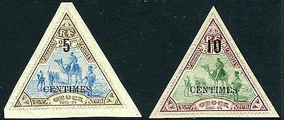 DJIBOUTI-1902 Surcharge Pair  Sg 112-113 LIGHTLY MOUNTED MINT V10509