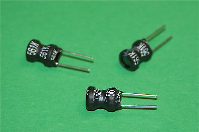 POWER INDUCTOR RADIAL LEADS - VALUES 22uH TO 12mH x 3