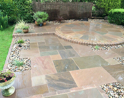 Mixed Brown  Indian Sandstone // 18.3M2 Patio Pack // Indian Stone // 4 Sizes //