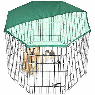 8 Side 91cm Tall Pet PlayPen Dog Cage Folding Run Metal Crate In/Out FREE Cover