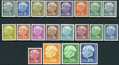 GERMANY (SAAR)-1957 Redrawn Set to 300f Sg 406-425 UNMOUNTED MINT V10560