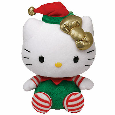Ty Beanie Babies Hello Kitty in Christmas Outfit Soft Toy Sanrio NWMT