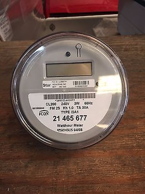 Sensus Watthour Meter (KWH) Icon iSAI 240V FM2S 200 Amps Hexagram Board Used