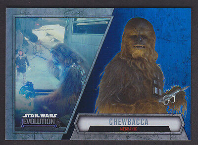 Topps Star Wars - Evolution 2016  - # 57 Chewbacca - Blue Parallel