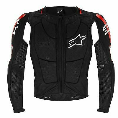 Alpinestars Bionic Tech Plus CE Certiified Jacket Black/White/Red - Motocross/MX