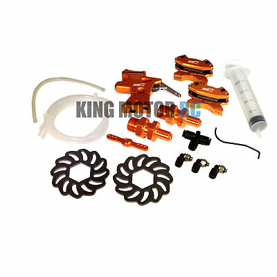 King Motor V2 Hydraulic Orange Aluminum Front Hydro Brake Kit HPI Baja 5B SS 5T
