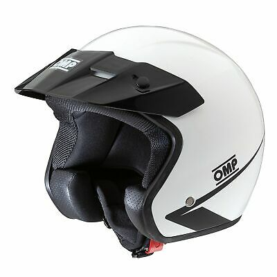 OMP Star -  ECE Approved Open Face Race/Racing/Track Day Helmet In White