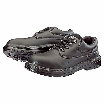 Draper Work Wear S1P Black Leather Safety Shoes With Composite Toecap - 4946