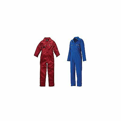 Dickies Junior/Childrens/Childs Redhawk Zip Front Overalls/Coverall/Boiler Suit