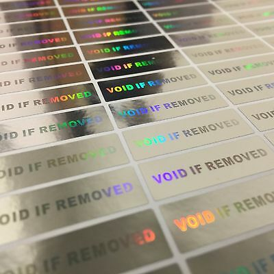 100 Hologram VOID IF REMOVED Security Labels Tamper Evident Stickers Warranty